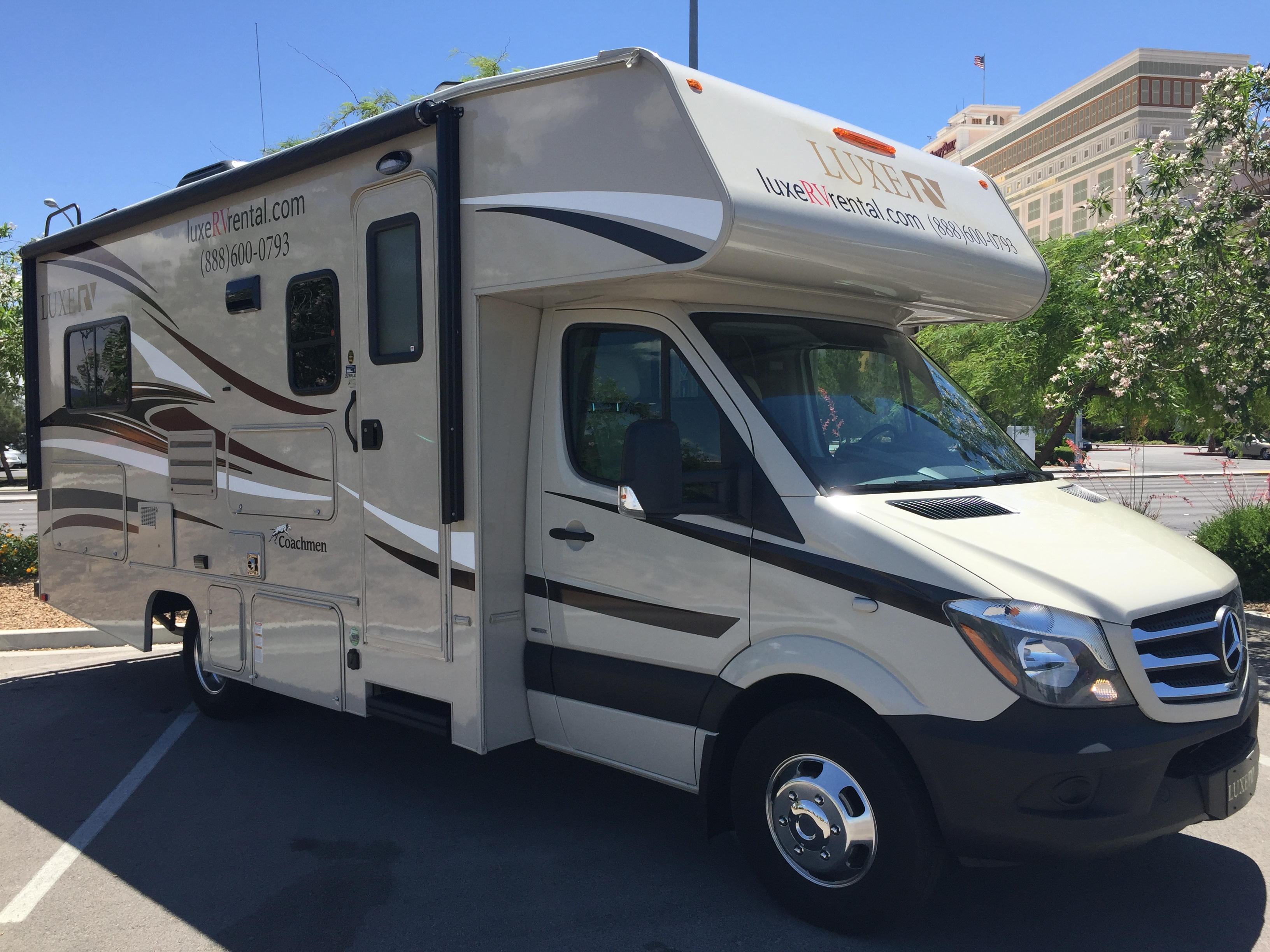 Luxe rv review compare prices and book for Mercedes benz sprinter rv service locations