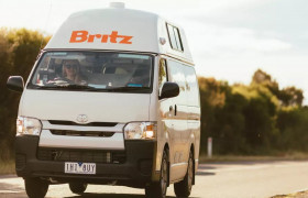 Britz Campervans Australia reviews. Britz Campervans 2 berth Hitop camper