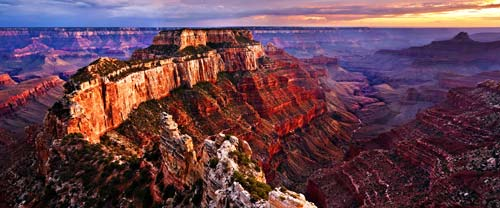 grand canyon at sunset - view from the RV