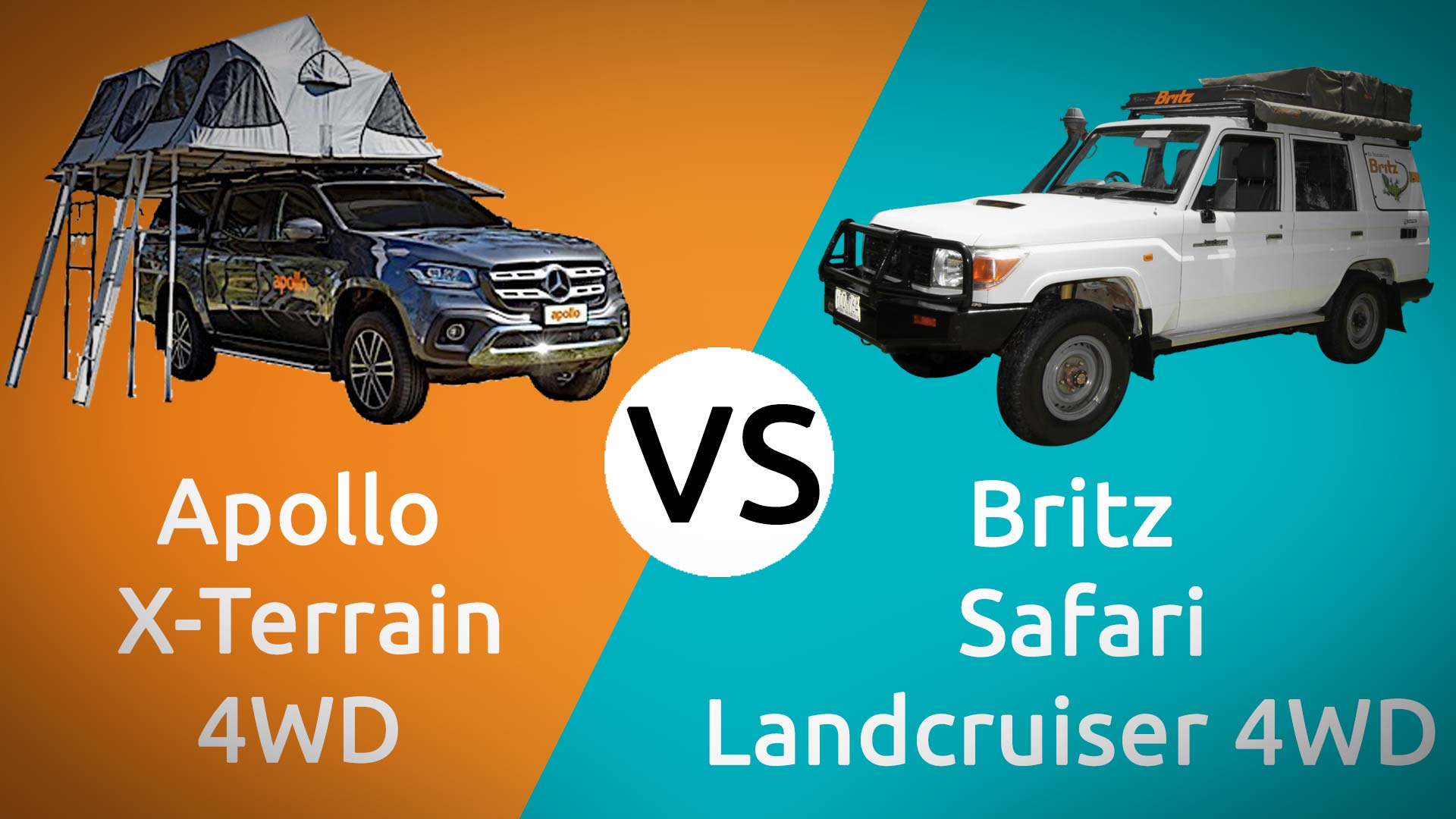 Apollo X-Terrain vs Britz Safari Landcruiser Compared Head